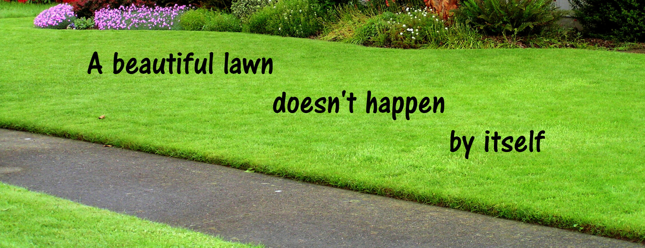 A beautiful lawn doesn't happen by itself 3
